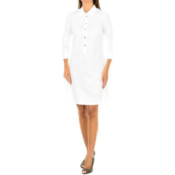Textiel Dames Korte jurken Armani jeans Robe à manches longues Wit