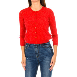Textiel Dames Vesten / Cardigans Armani jeans Cardigan Rood