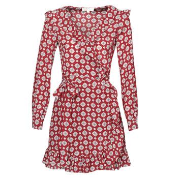Textiel Dames Korte jurken MICHAEL Michael Kors LUX PINDOT WRAP DRS Bordeaux