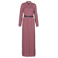 Textiel Dames Lange jurken MICHAEL Michael Kors WARM PLAYFL SHIRT DR Bordeaux / Wit / Marine
