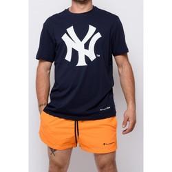 Textiel Heren T-shirts korte mouwen Champion T-shirt met ronde hals van  (214649-bs501) Blauw