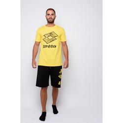 Textiel Heren T-shirts korte mouwen Lotto Half Sleeve Jersey T-shirt (ltu035-geel) Geel