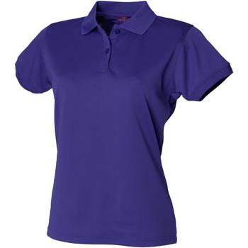 Textiel Dames Polo's korte mouwen Henbury Coolplus Helder paars