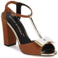 Schoenen Dames Sandalen / Open schoenen Karine Arabian ABBAZIA Zand / Wit / Goud