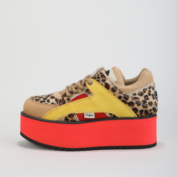Schoenen Dames Lage sneakers Buffalo 1330-6 - Leopard Suede / Fur Multicolour