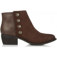 Schoenen Dames Enkellaarzen Dune London Panella Brown Suede