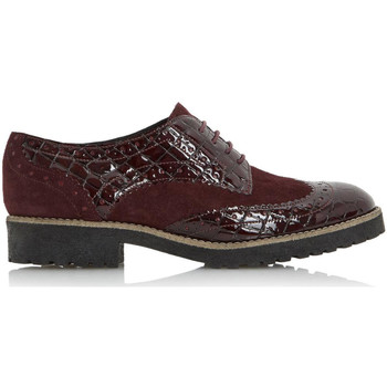 Schoenen Dames Derby Dune London Faune Burgundy Leather