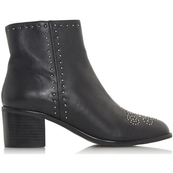 Schoenen Dames Enkellaarzen Dune London Queenies BLACK LEATHER