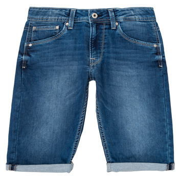 Textiel Jongens Korte broeken / Bermuda's Pepe jeans CASHED SHORT Blauw