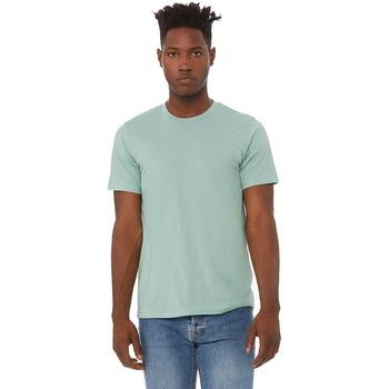 Textiel Heren T-shirts korte mouwen Bella + Canvas Triblend Stoffige Blauwe Triblend
