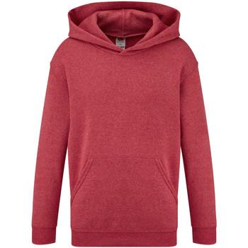 Textiel Kinderen Sweaters / Sweatshirts Fruit Of The Loom Hooded Heather Rood