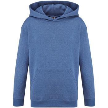 Textiel Kinderen Sweaters / Sweatshirts Fruit Of The Loom Hooded Heather Royaal