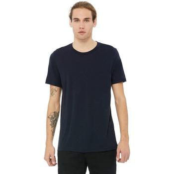 Textiel Heren T-shirts korte mouwen Bella + Canvas Triblend Solide Marine Triblend