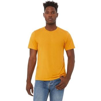 Textiel Heren T-shirts korte mouwen Bella + Canvas Triblend Mosterd Triblend