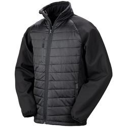 Textiel Heren Dons gevoerde jassen Result Compass Zwart/Zwart