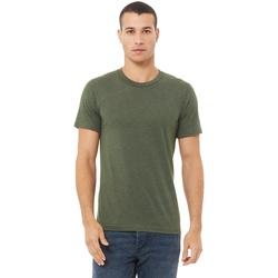 Textiel Heren T-shirts korte mouwen Bella + Canvas Triblend Militaire Groene Triblend