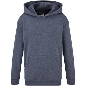Textiel Kinderen Sweaters / Sweatshirts Fruit Of The Loom Hooded Heather Marine
