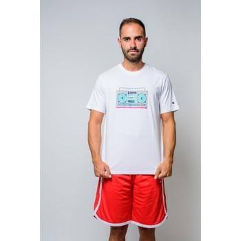 Textiel Heren T-shirts korte mouwen Champion T-shirt met ronde hals van  (214665-ww001) Wit