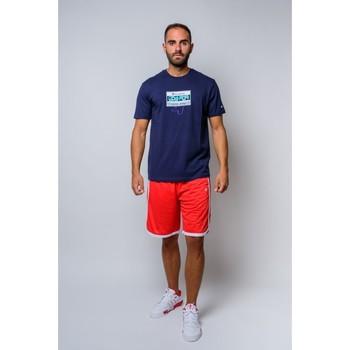 Textiel Heren T-shirts korte mouwen Champion T-shirt met ronde hals van  (214666-bs503) Blauw
