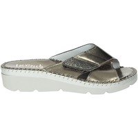 Schoenen Dames Leren slippers Flexistep IU501734-NR Charcoal grey