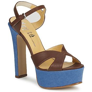 Schoenen Dames Sandalen / Open schoenen Keyté CUBA-LUX-MARRONE-FLY-9 Bruin