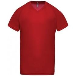 Textiel Heren T-shirts korte mouwen Proact T-Shirt Col V  Sport rouge