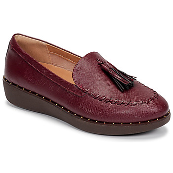 Schoenen Dames Lage sneakers FitFlop PETRINA PATENT LOAFERS Rood