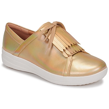Schoenen Dames Lage sneakers FitFlop F-SPORTY II LACE UP FRINGE SNEAKERS-IRIDESCENT LTR Goud
