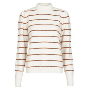 Textiel Dames Truien Vero Moda VMCORNELIAPUFF Wit / Brown