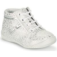 Schoenen Meisjes Hoge sneakers GBB ACINTA Wit / Zilver
