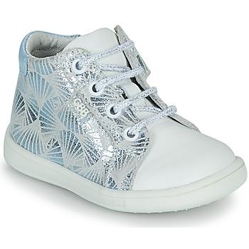 Schoenen Meisjes Hoge sneakers GBB FAMIA Wit / Blauw