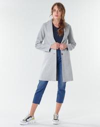 Textiel Dames Mantel jassen Only ONLCARRIE BONDED Grijs
