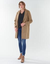 Textiel Dames Mantel jassen Only ONLCARRIE BONDED  camel