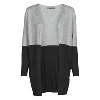 Textiel Dames Vesten / Cardigans Only ONLQUEEN Zwart / Grijs