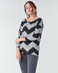 Textiel Dames Tops / Blousjes Only ONLELCOS Grijs / Zwart