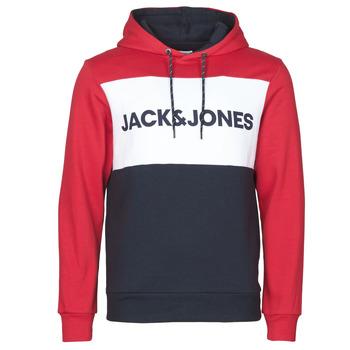 Textiel Heren Sweaters / Sweatshirts Jack & Jones JJELOGO BLOCKING Rood