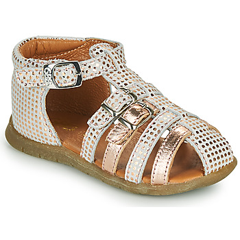 Schoenen Meisjes Sandalen / Open schoenen GBB PERLE Wit / Roze / Gold