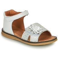 Schoenen Meisjes Sandalen / Open schoenen GBB SATIA Wit / Zilver