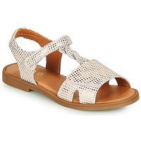 Schoenen Meisjes Sandalen / Open schoenen GBB FARENA Wit / Roze / Gold