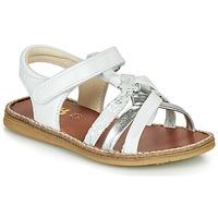 Schoenen Meisjes Sandalen / Open schoenen GBB SUMY Wit / Zilver