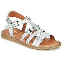 Schoenen Meisjes Sandalen / Open schoenen GBB OLALA Zilver