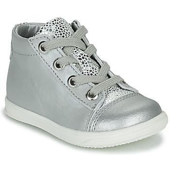 Schoenen Meisjes Hoge sneakers Little Mary VITAMINE Zilver