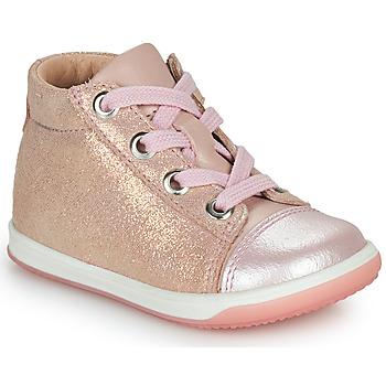 Schoenen Meisjes Hoge sneakers Little Mary VITAMINE Roze