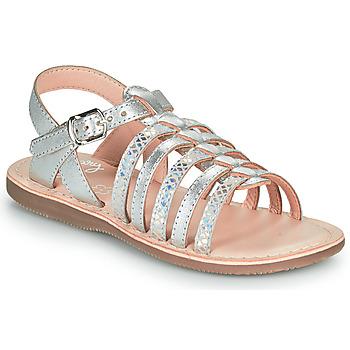 Schoenen Meisjes Sandalen / Open schoenen Little Mary BARBADE Zilver