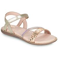 Schoenen Meisjes Sandalen / Open schoenen Little Mary DOLERON Goud