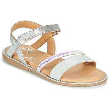 Schoenen Meisjes Sandalen / Open schoenen Little Mary DOLERON Zilver