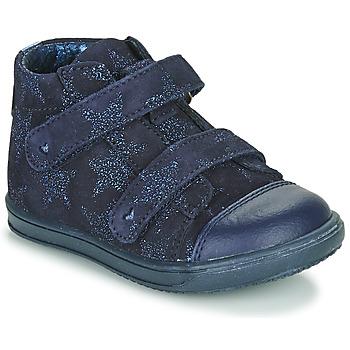 Schoenen Meisjes Hoge sneakers Little Mary ADELINE Marine