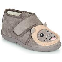 Schoenen Kinderen Sloffen Little Mary LIONVELCRO Grijs