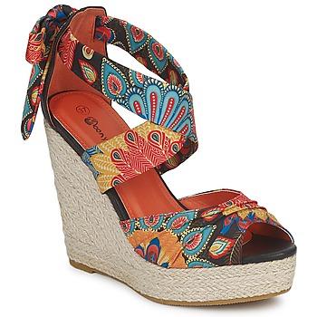 Schoenen Dames Sandalen / Open schoenen Moony Mood FIRNIL Zwart / Multikleuren