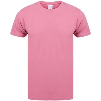 Textiel Heren T-shirts korte mouwen Skinni Fit Stretch Schemerig Roze